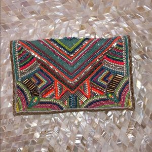 BCBG Generation Tribal Clutch